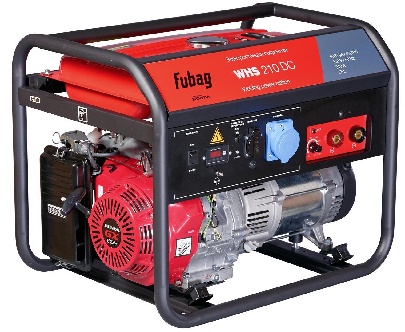Бензиновый генератор Fubag Whs 210 dc электростанция сварочная whs 210 dc honda 220в бензиновая