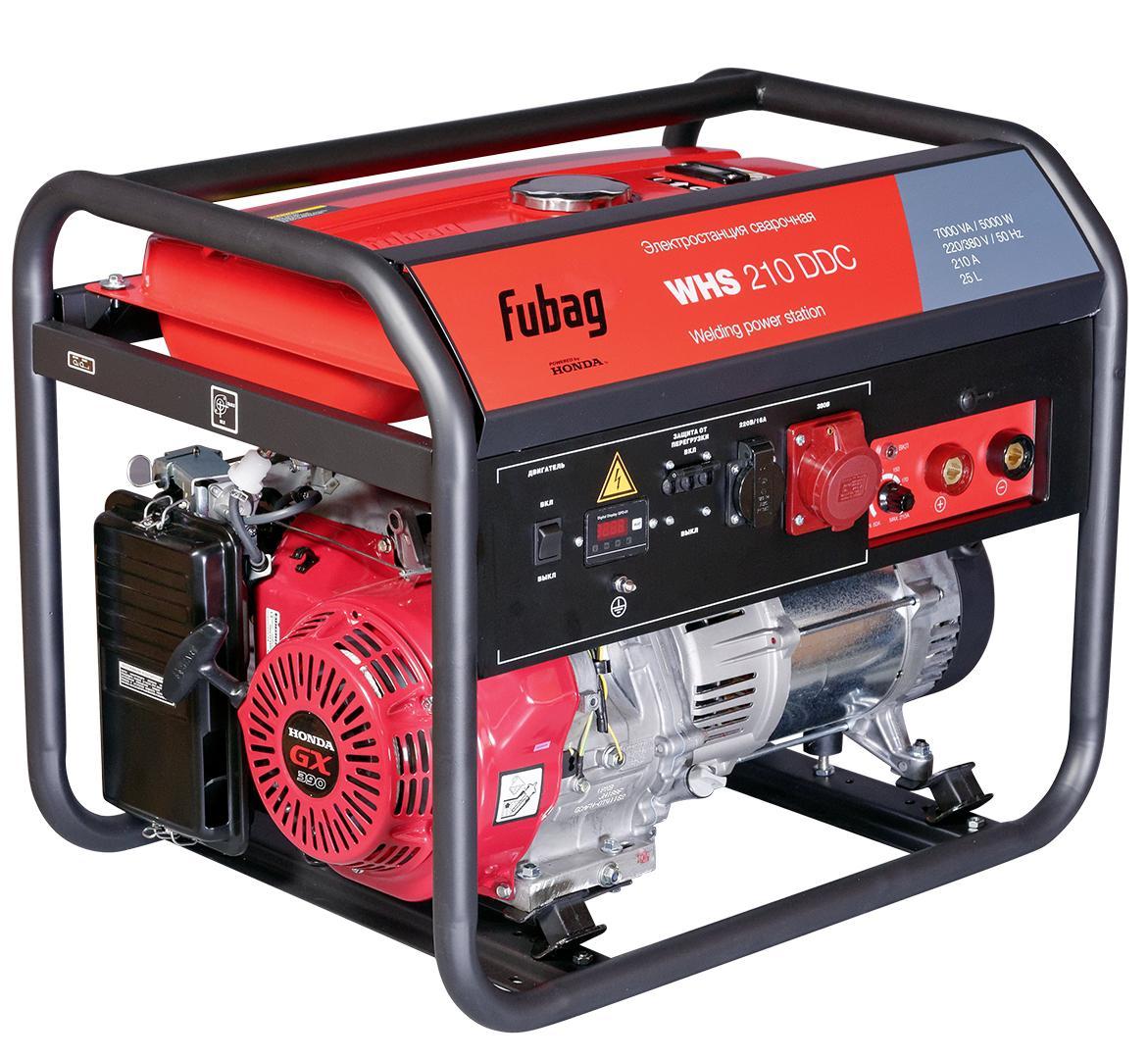Бензиновый генератор Fubag Whs 210 ddc cкобы fubag 1 05х1 25мм 5 7х22 0 5000шт 140131