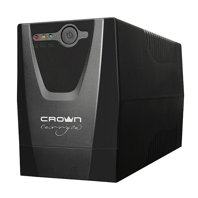 Источник бесперебойного питания Crown Cmu-650xiec источник бесперебойного питания crown cmu 650xiec 600 ва 300 вт off line 3 х iec 320 12v 7ah х