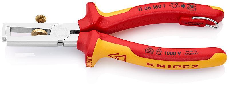 Щипцы для зачистки электропроводов Knipex Kn-1106160tbk щипцы для зачистки электропроводов gross 0 05 8 мм2