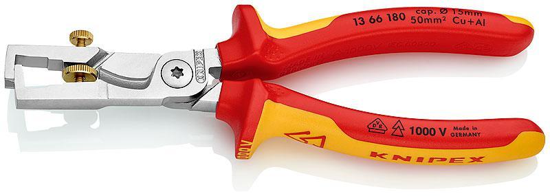 Щипцы для зачистки электропроводов Knipex Kn-1366180 инструмент для снятия изоляции knipex kn 1302160