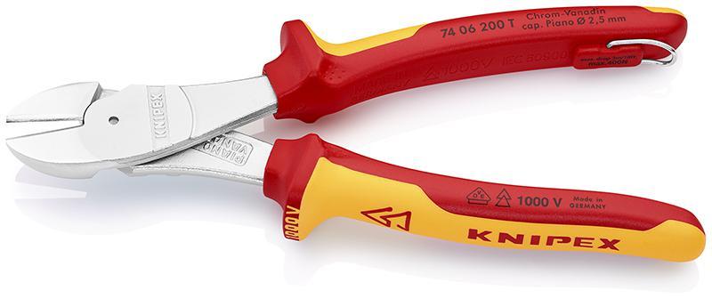 Бокорезы Knipex Kn-7406200tbk бокорезы диэлектрические knipex kn 7306160