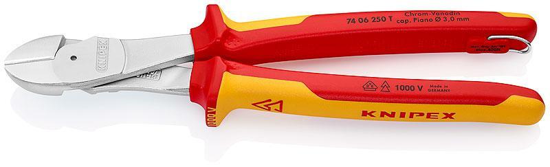 Бокорезы Knipex Kn-7406250t knipex kn 1426160 бокорезы для удаления изоляции red yellow
