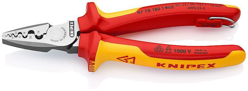 Пресс-клещи Knipex Kn-9778180t клещи knipex kn 8701400 кобра