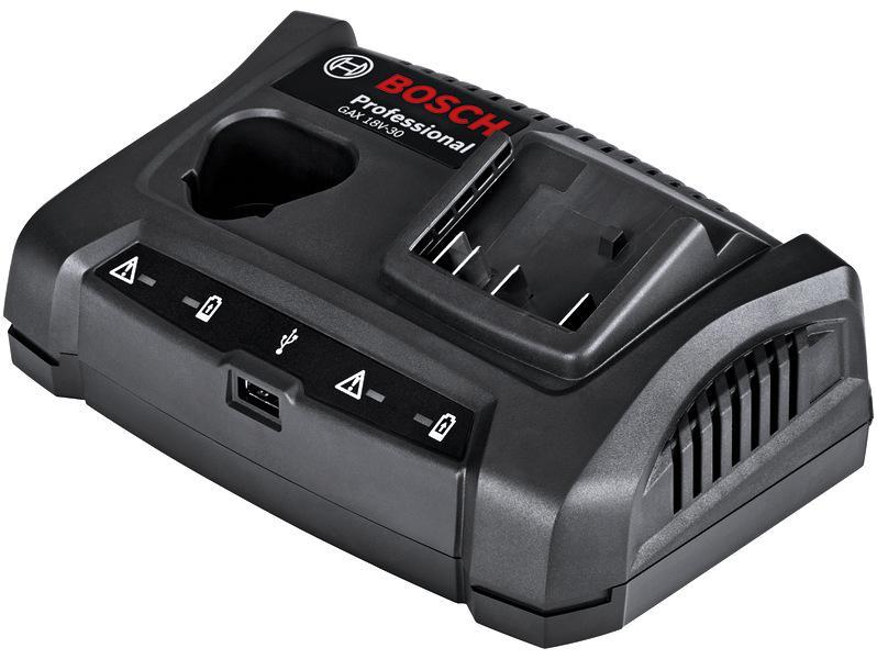 Зарядное устройство Bosch Gax 18v-30 1600a011a9 (1.600.a01.1a9) набор bosch дрель аккумуляторная gsb 18 v ec 0 601 9e9 100 адаптер gaa 18v 24