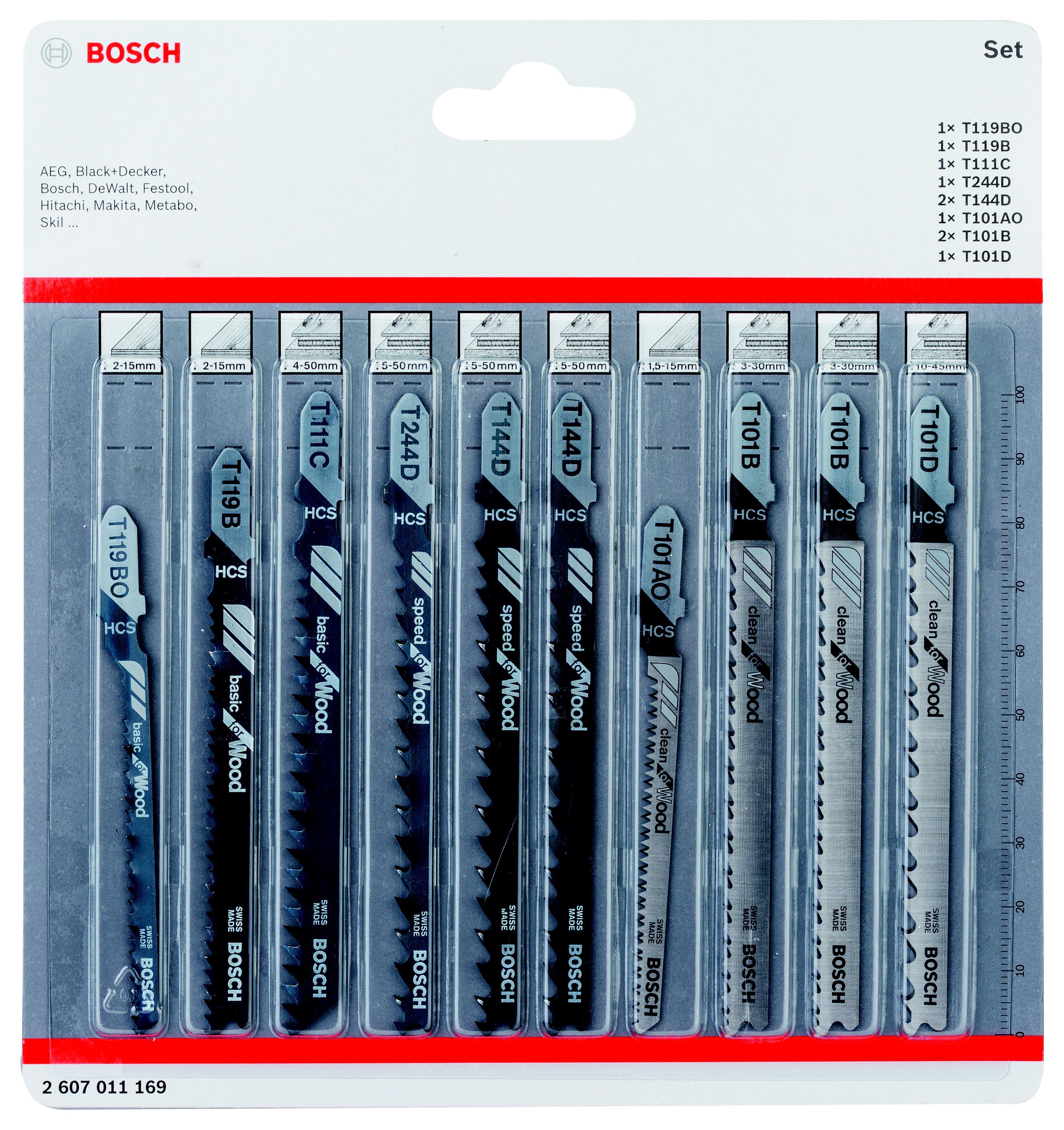 Набор пилок Bosch 2607011169 пилки для лобзика по металлу для прямых пропилов bosch t118a 1 3 мм 5 шт