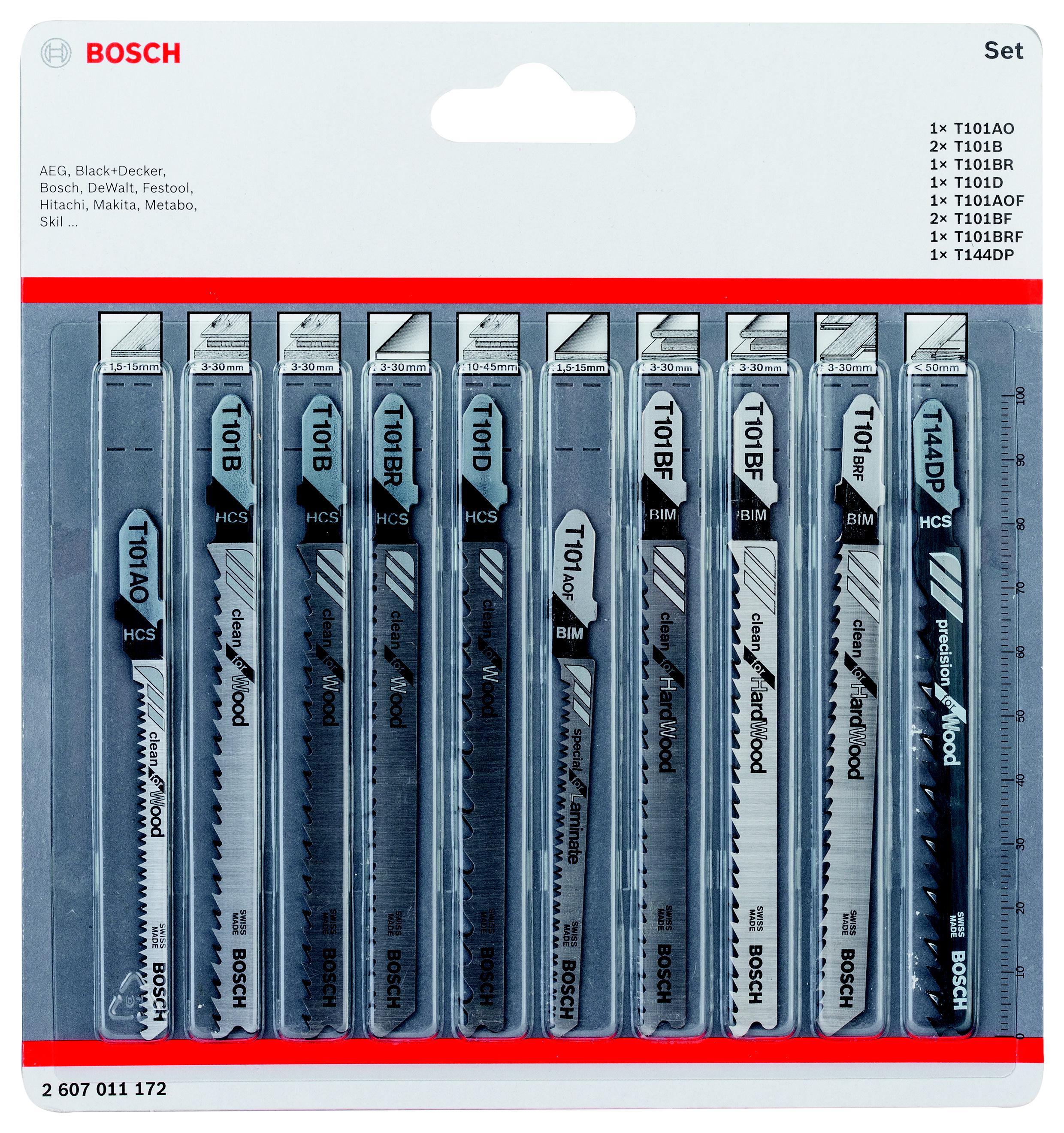 Набор пилок Bosch 2607011172 пилки для лобзика по металлу для прямых пропилов bosch t118a 1 3 мм 5 шт