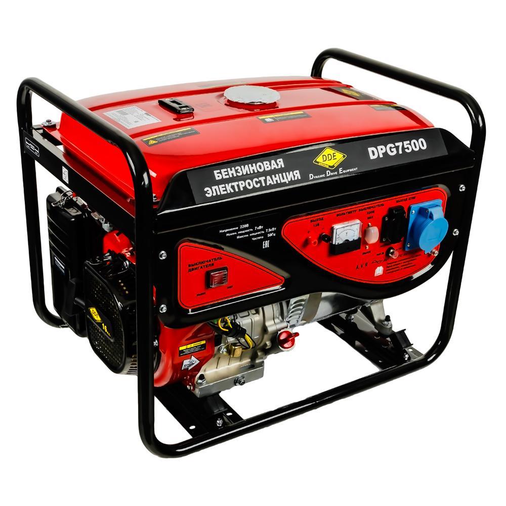 Бензиновый генератор Dde Dpg7500 цена и фото