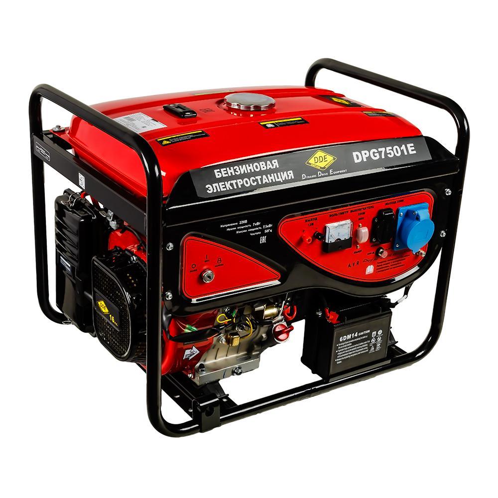 все цены на Бензиновый генератор Dde Dpg7501e онлайн
