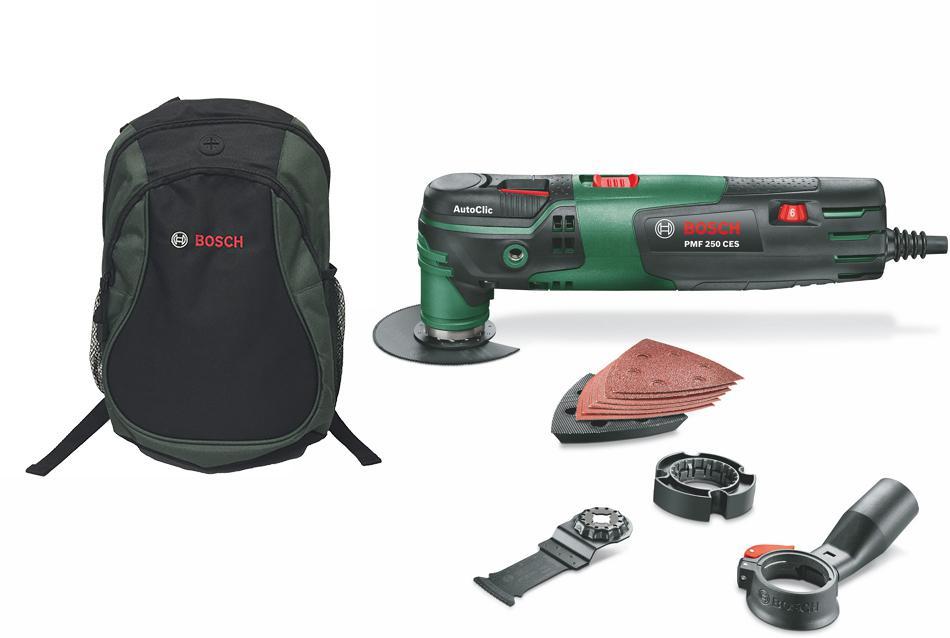 Набор Bosch Инструмент многофункц. pmf 250ces (0603102120) + рюкзак green (1619g45200)