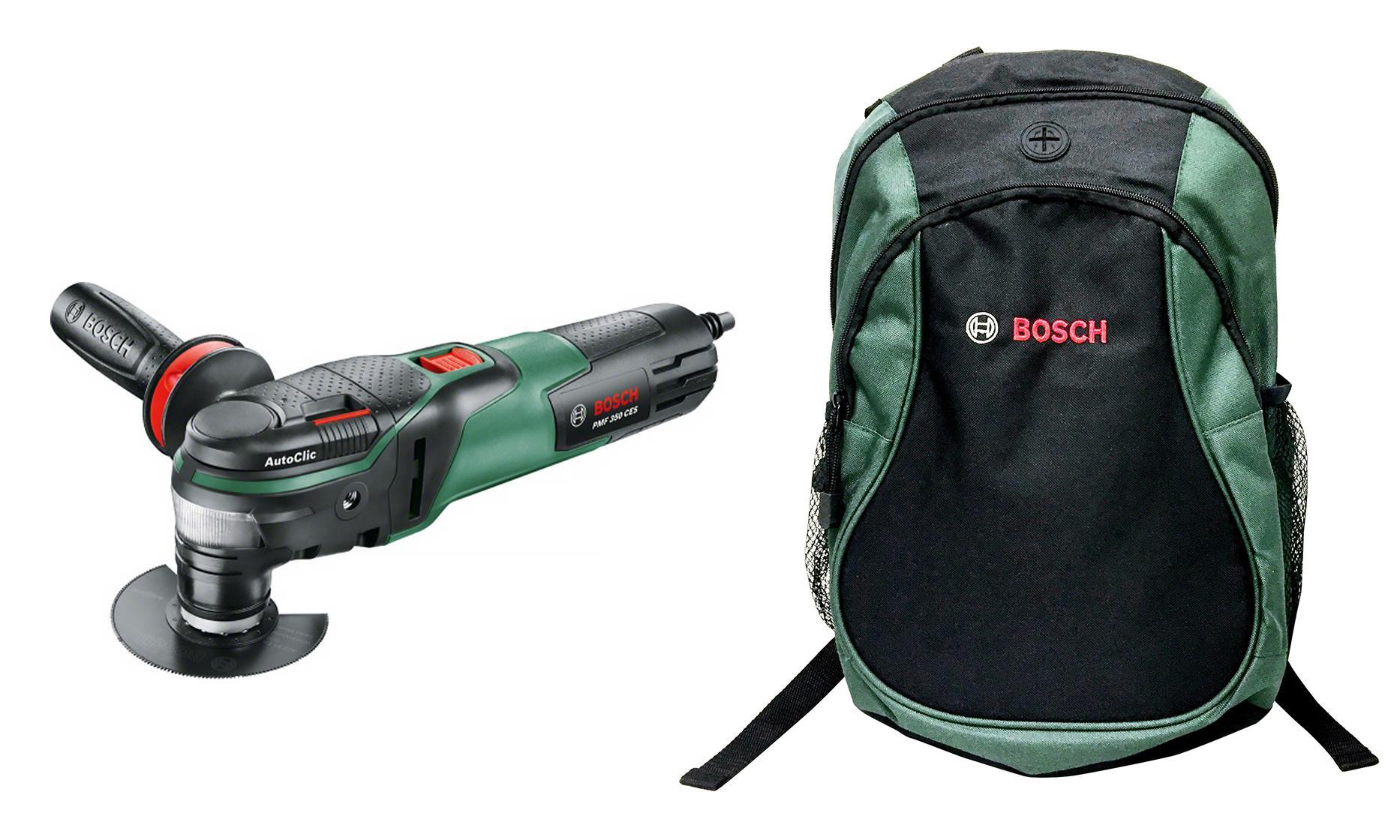 цена на Набор Bosch Инструмент многофункц. pmf 350 ces + рюкзак green (1619g45200)