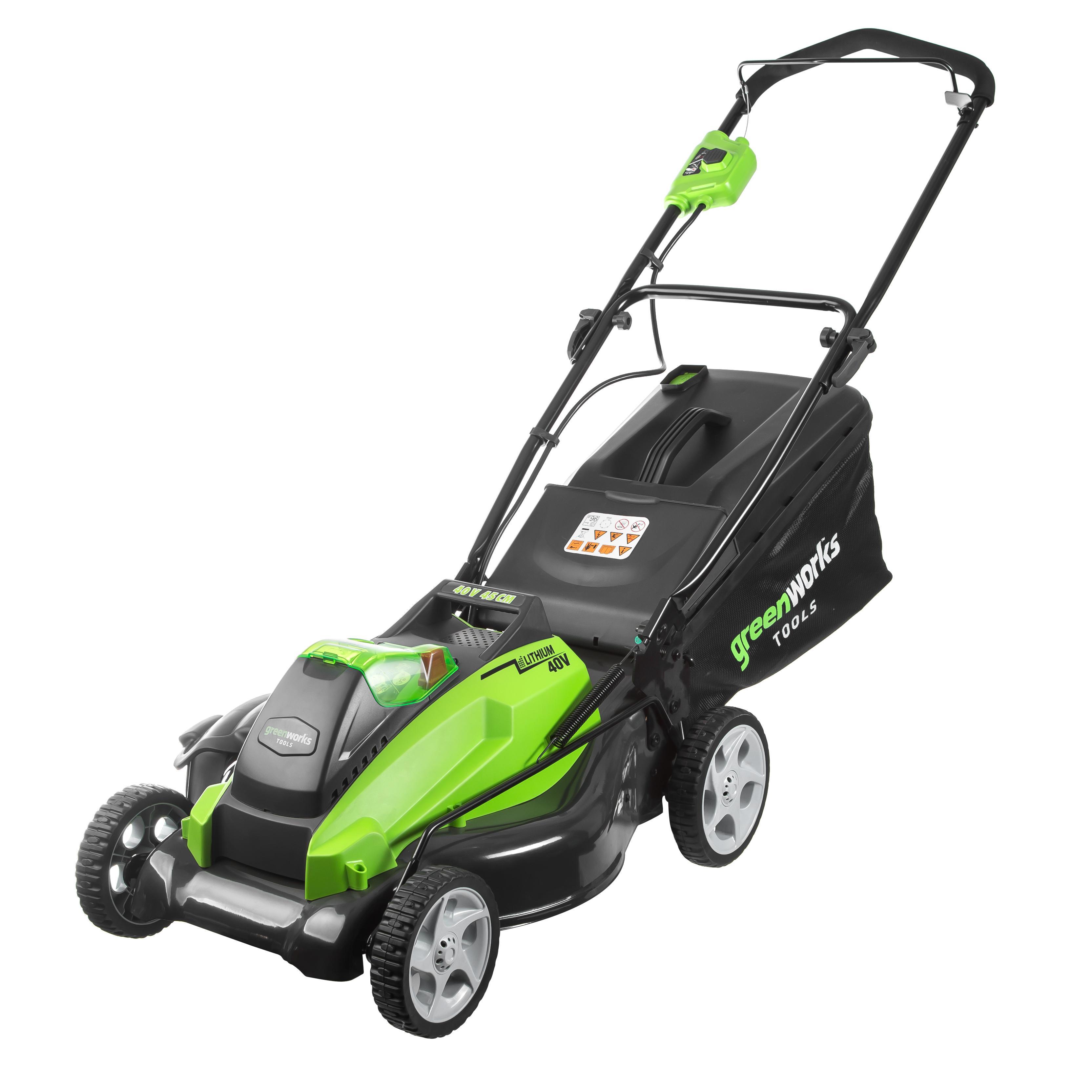 Аккумуляторная газонокосилка Greenworks G40lm45k4 (2500107vb) 1акк 40В 4Ач + ЗУ