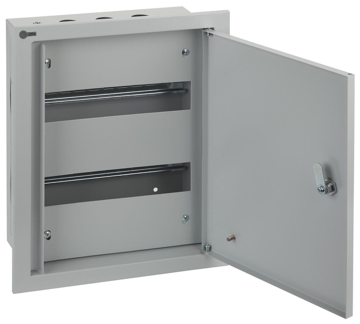 Щит ЭРА ЩРВ-24 ip31  щиток встраиваемый для 12 модулей металлический ip31 иэк щрв