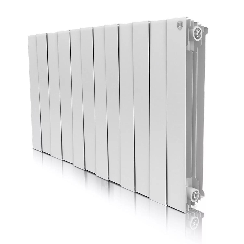 Радиатор биметаллический Royal thermo Pianoforte 500/bianco traffico 12 секций raditall g2 bimetallo 500 12 секций