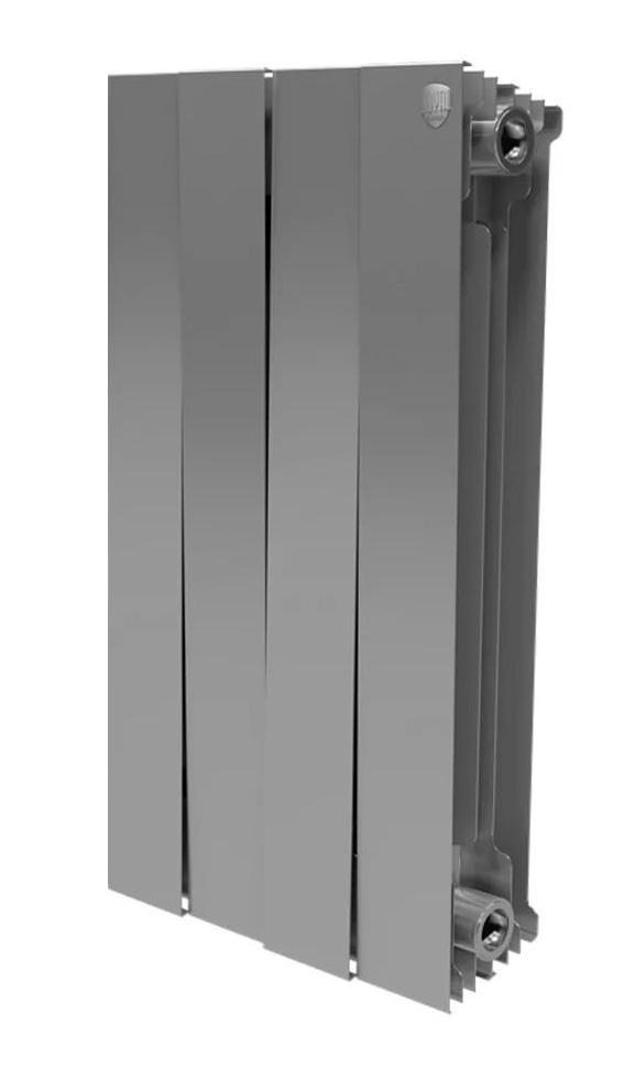 Радиатор биметаллический Royal thermo Pianoforte 500/silver satin 4 секций mccarthy t satin island