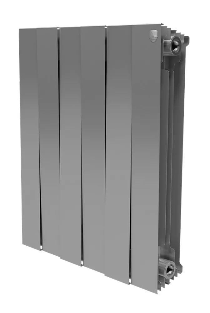 Радиатор биметаллический Royal thermo Pianoforte 500/silver satin 6 секций mccarthy t satin island