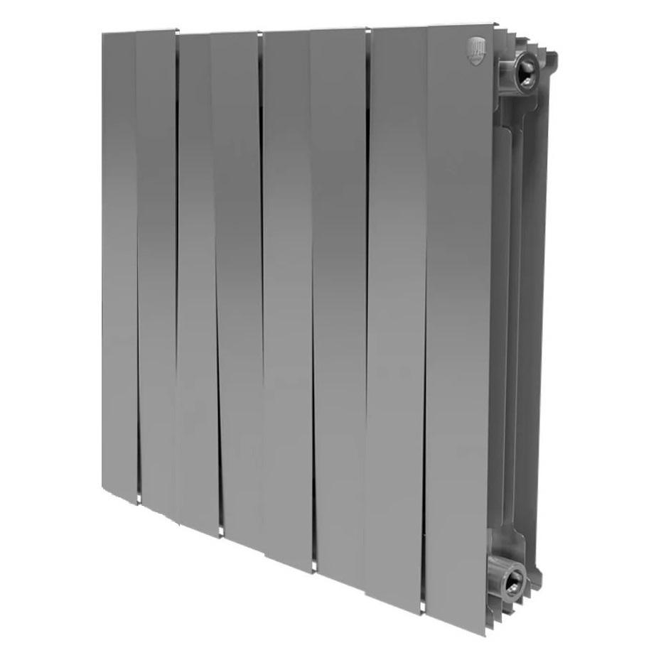 Радиатор биметаллический Royal thermo Pianoforte 500/silver satin 8 секций warma 500 85 8 секций