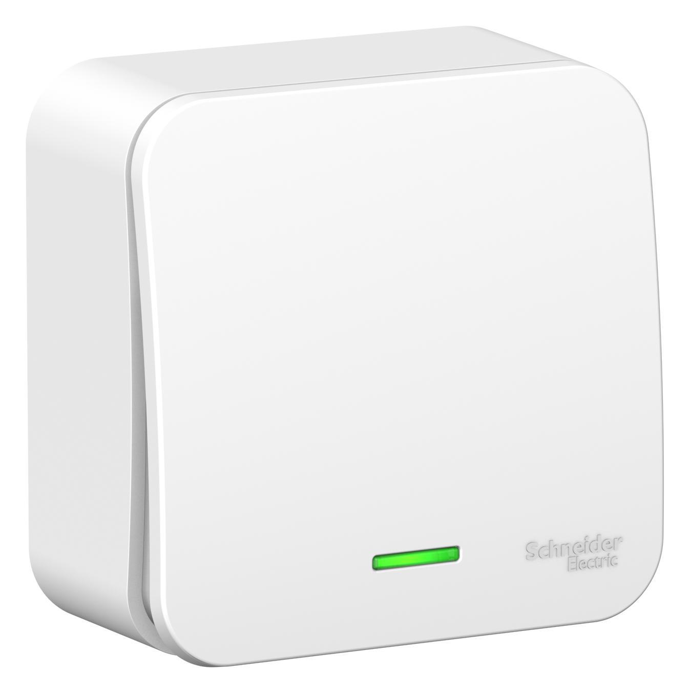 Выключатель Schneider electric Blnva101101 blanca панель лицевая schneider electric actassi 1 модуль белый 24 шт vdi88240