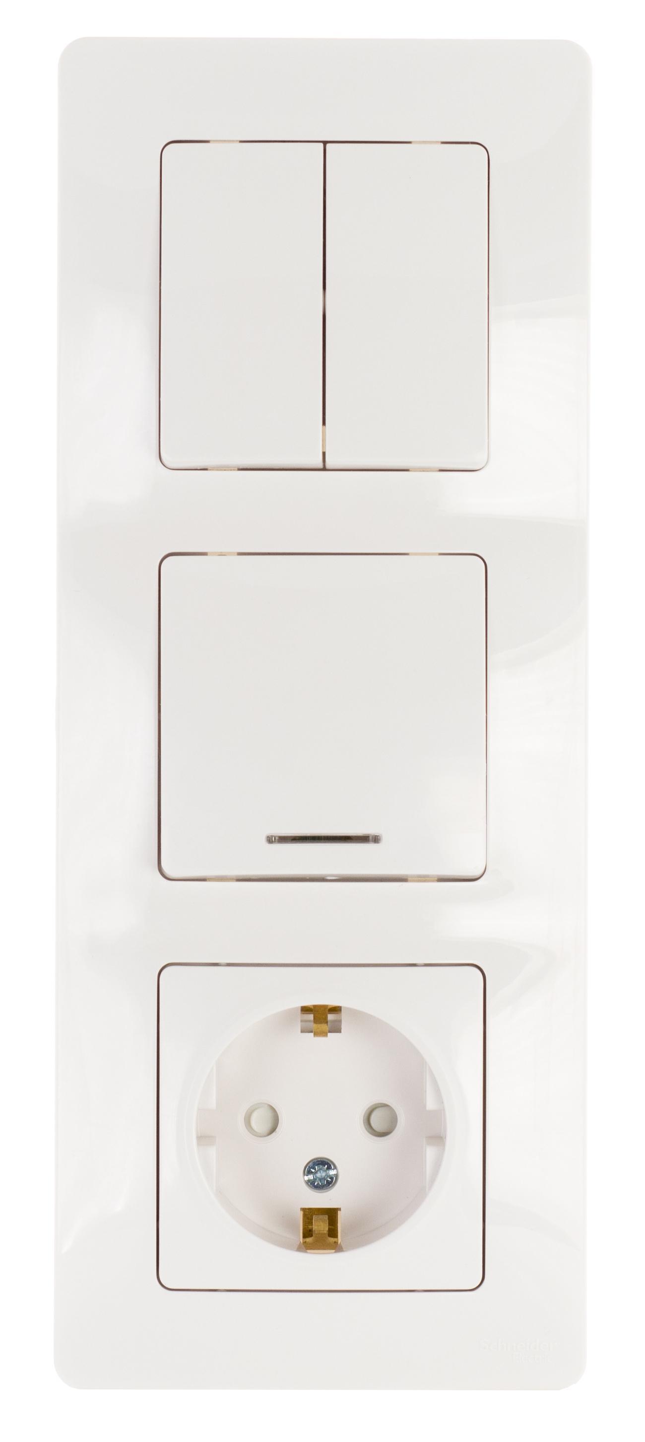 Блок Schneider electric Blnbs101211 blanca панель лицевая schneider electric actassi 1 модуль белый 24 шт vdi88240