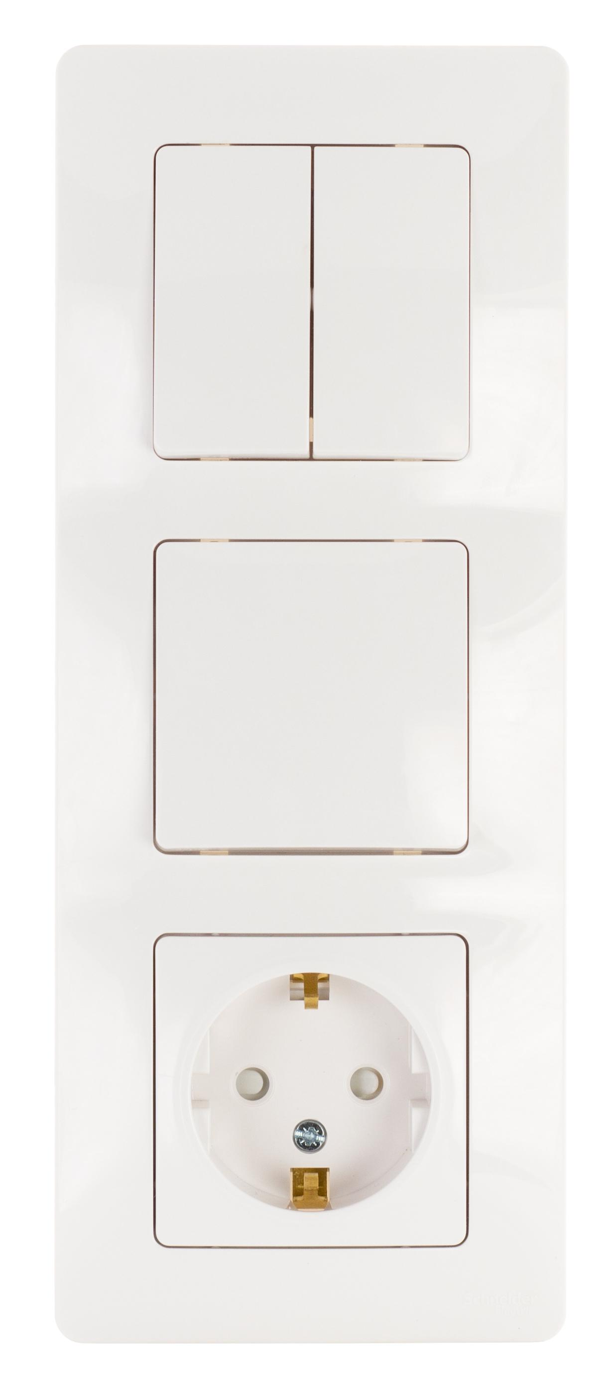 Блок Schneider electric Blnbs101201 blanca панель лицевая schneider electric actassi 1 модуль белый 24 шт vdi88240