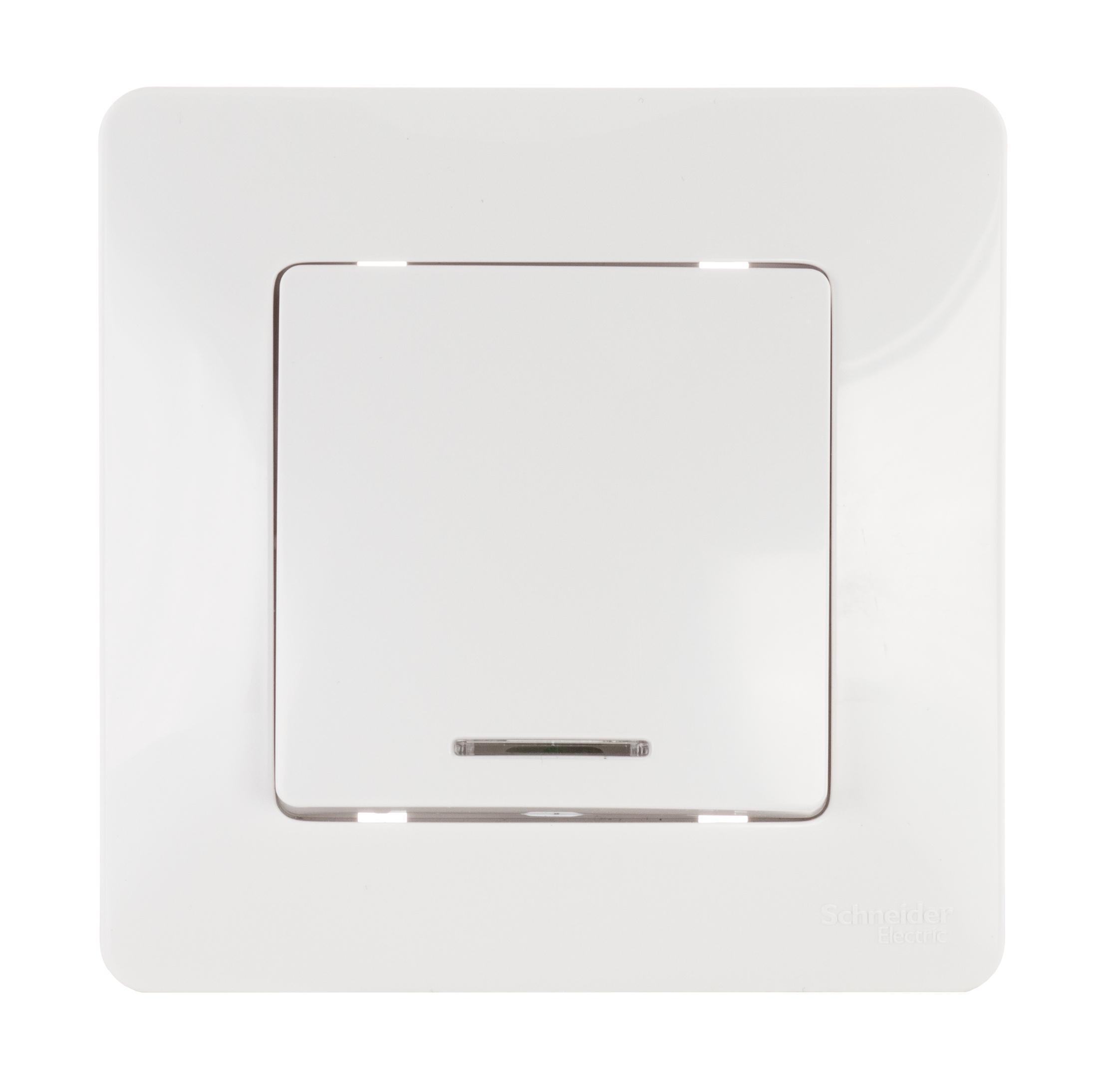 Выключатель Schneider electric Blnvs010111 blanca панель лицевая schneider electric actassi 1 модуль белый 24 шт vdi88240