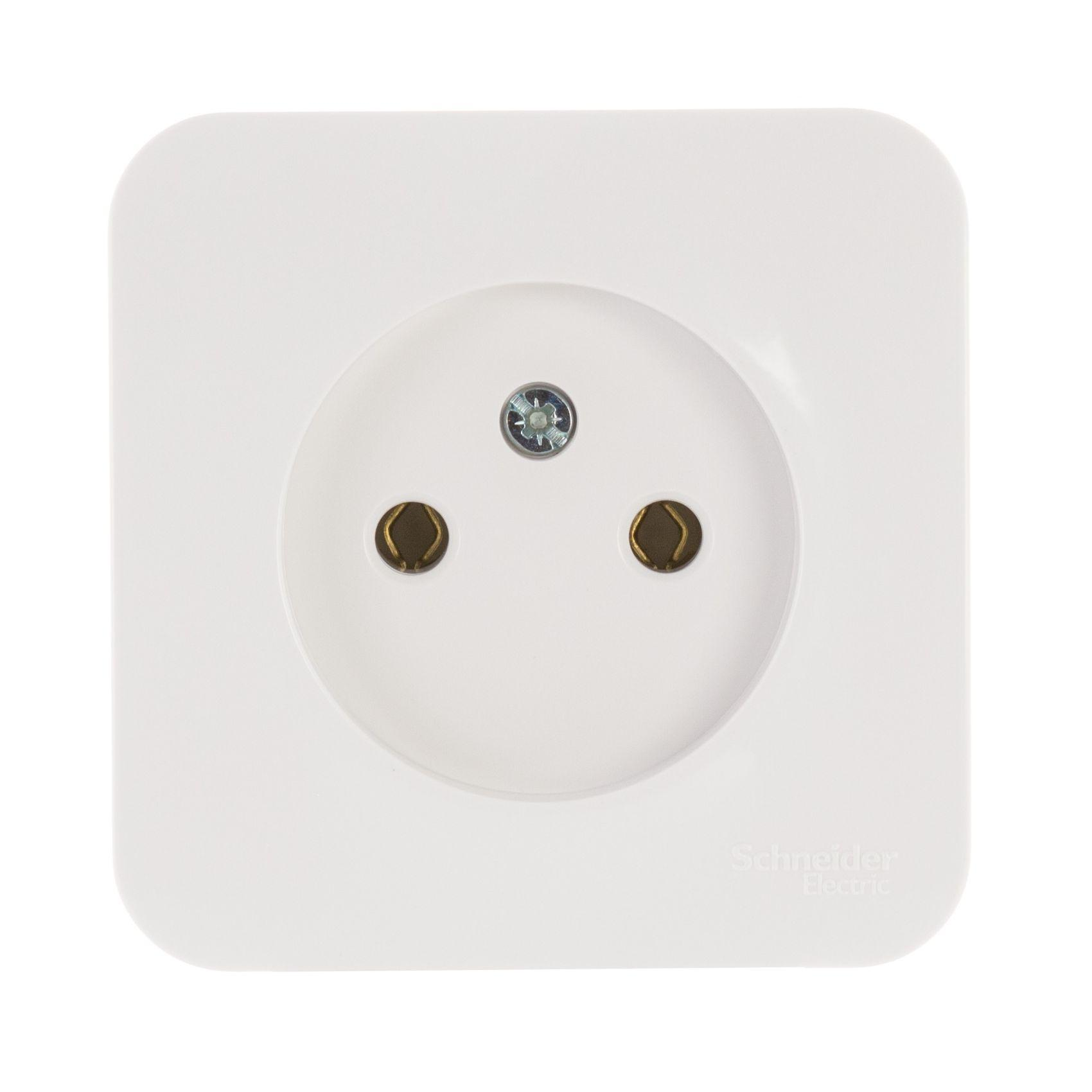Розетка Schneider electric Blnra000111 blanca панель лицевая schneider electric actassi 1 модуль белый 24 шт vdi88240