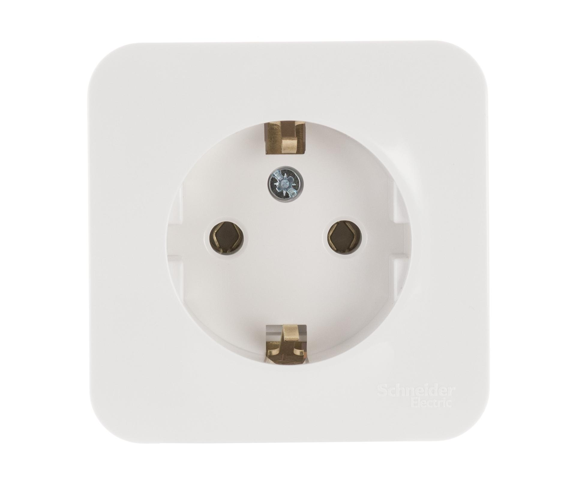Розетка Schneider electric Blnra010111 blanca панель лицевая schneider electric actassi 1 модуль белый 24 шт vdi88240