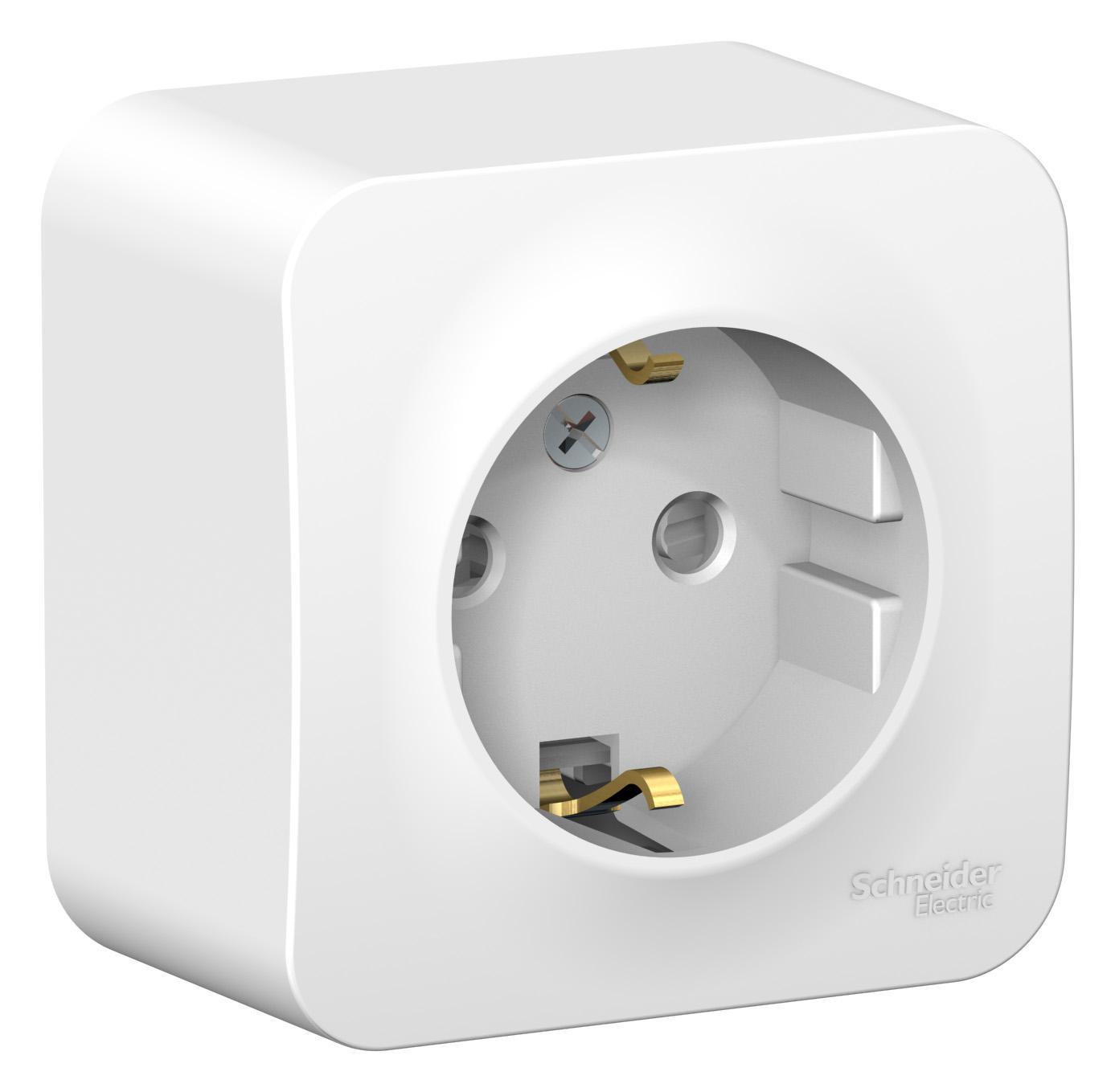 Розетка Schneider electric Blnra011111 blanca панель лицевая schneider electric actassi 1 модуль белый 24 шт vdi88240