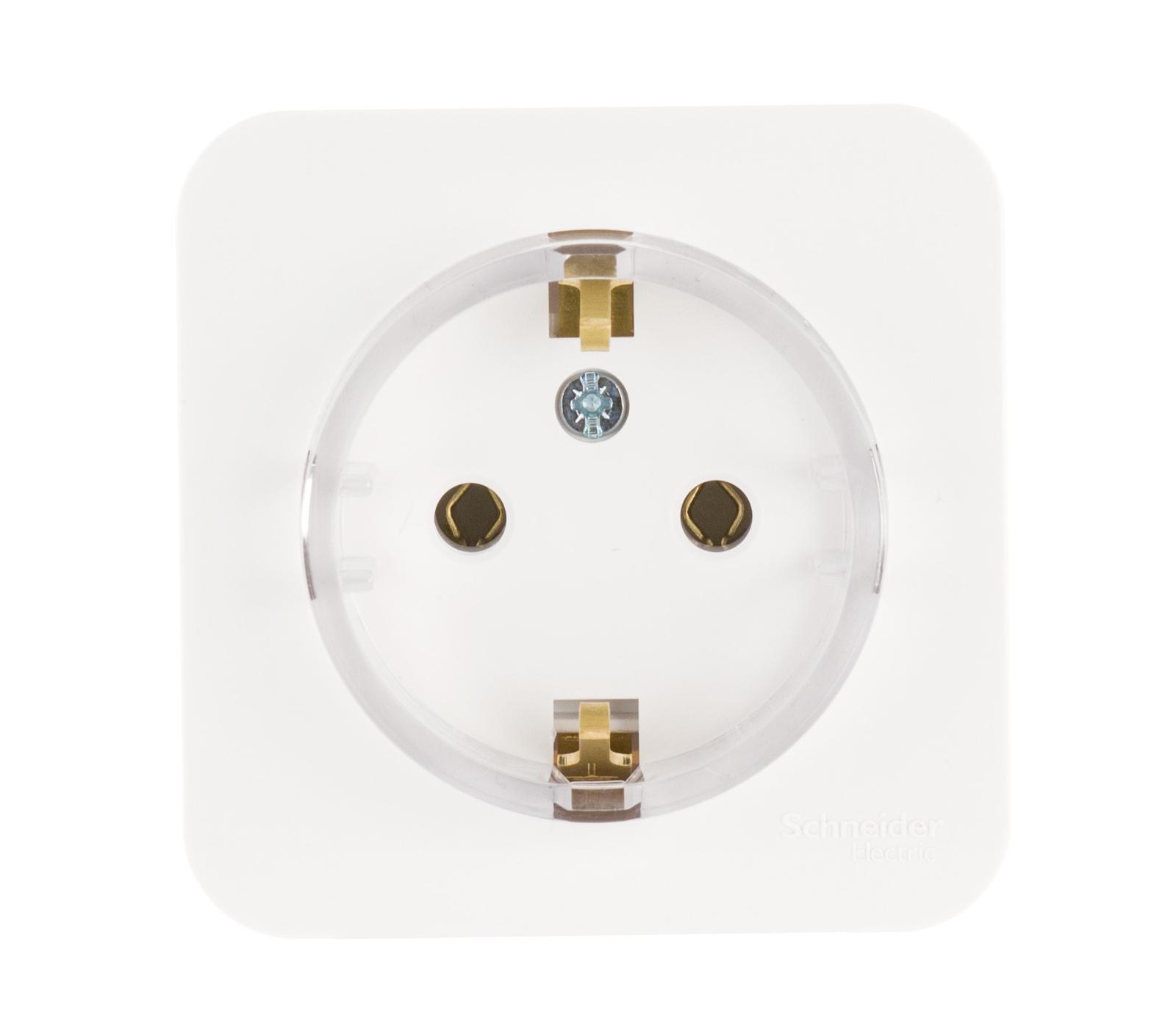 Розетка Schneider electric Blnra110111 blanca панель лицевая schneider electric actassi 1 модуль белый 24 шт vdi88240