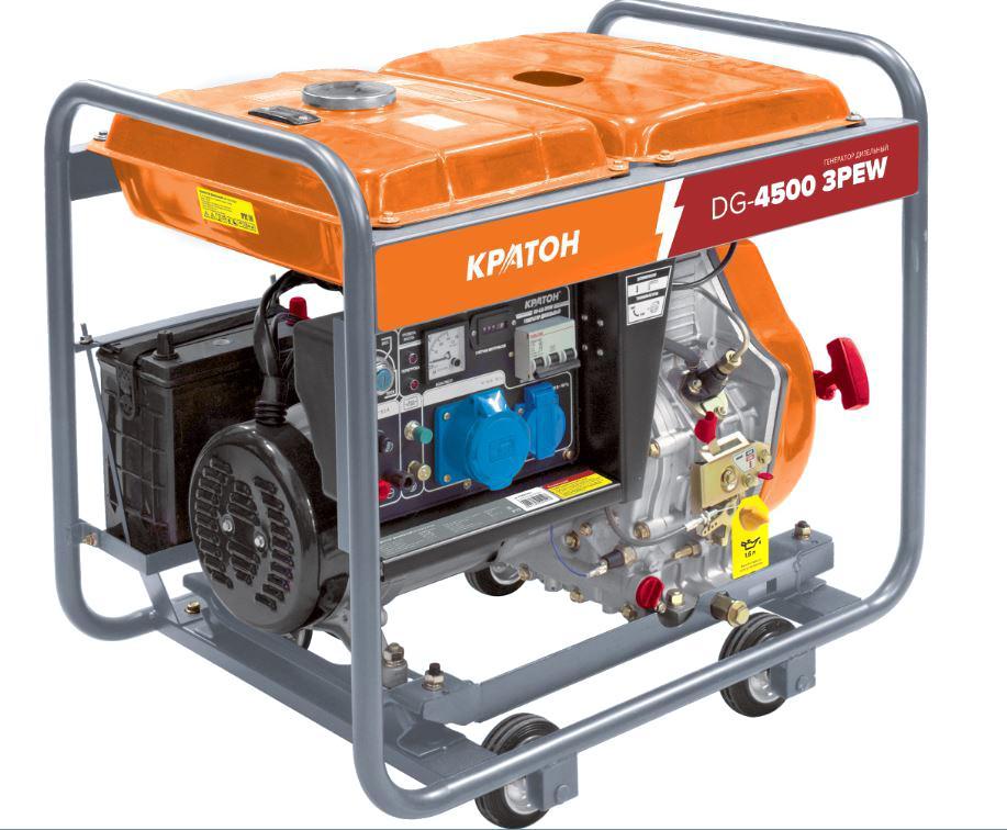 Дизельный генератор КРАТОН Dg-4500 3pew плиткорез электрический кратон tc 12