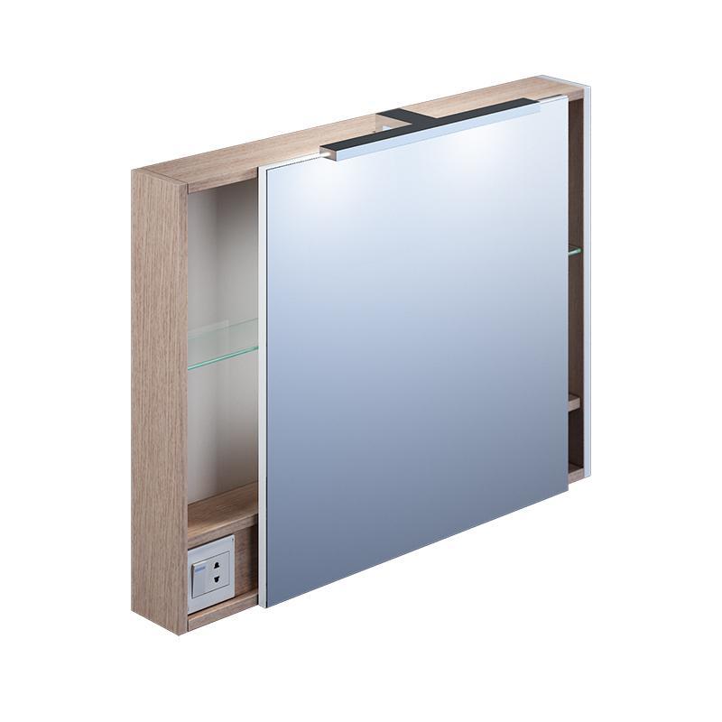 Зеркало-шкаф Iddis Mir8000i99 набор ковриков для ванной iddis beige landscape 242m590i13