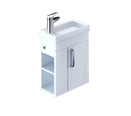 Тумба для ванной комнаты с раковиной IDDIS Torr TOR40W1i95+0014000U28