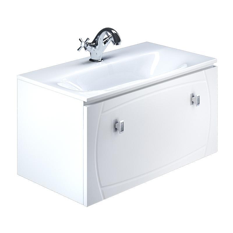 Тумба для ванной комнаты с раковиной Iddis Ris90w0i95+0029000i28 тумба iddis ris90w0i95
