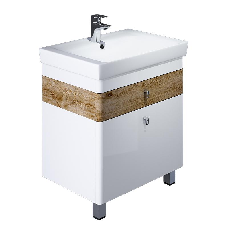 Тумба для ванной комнаты с раковиной Iddis Car70w2i95+0047000i28 тумба iddis ris90w0i95