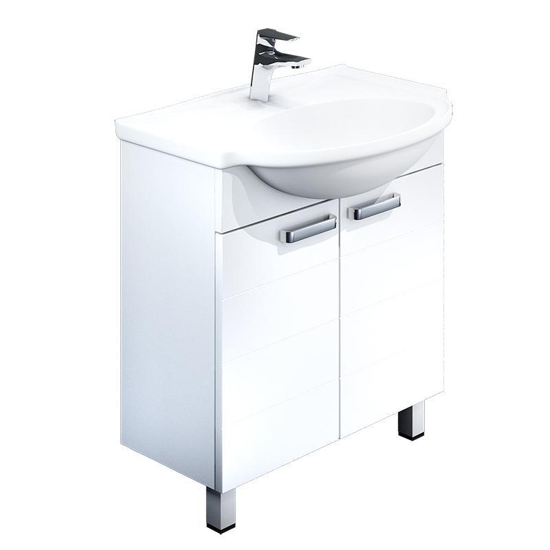 Тумба для ванной комнаты с раковиной Iddis Har70w2i95+0057000i28 тумба iddis ris90w0i95
