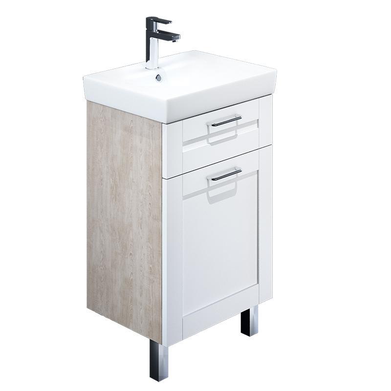 Тумба для ванной комнаты с раковиной Iddis Sen50w1i95+0035000i28 тумба iddis ris90w0i95