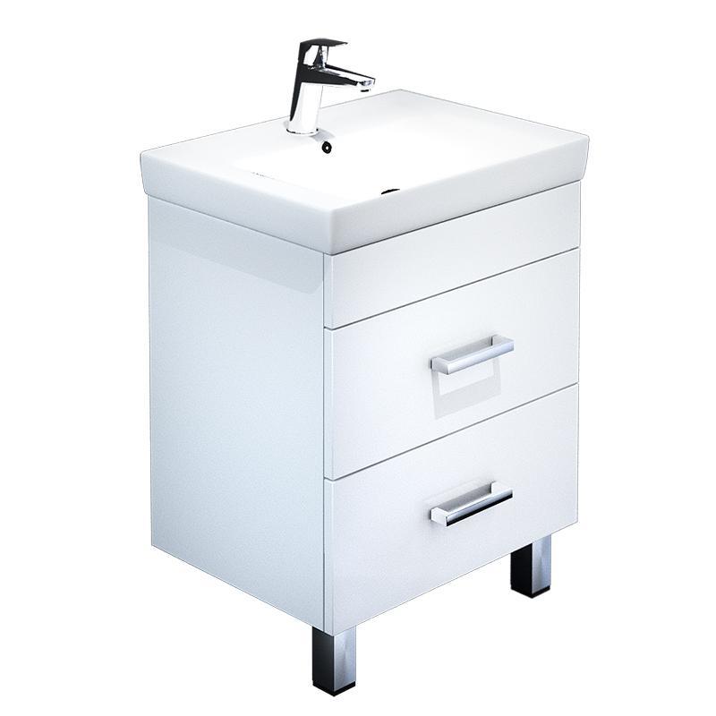 Тумба для ванной комнаты с раковиной Iddis Cus55w0i95+0045500i28 тумба iddis ris90w0i95