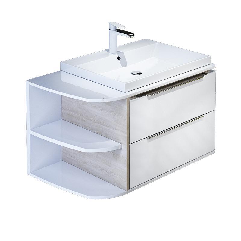 Тумба для ванной комнаты с раковиной Iddis Cal80w0i95+0066000i28 тумба iddis ris90w0i95
