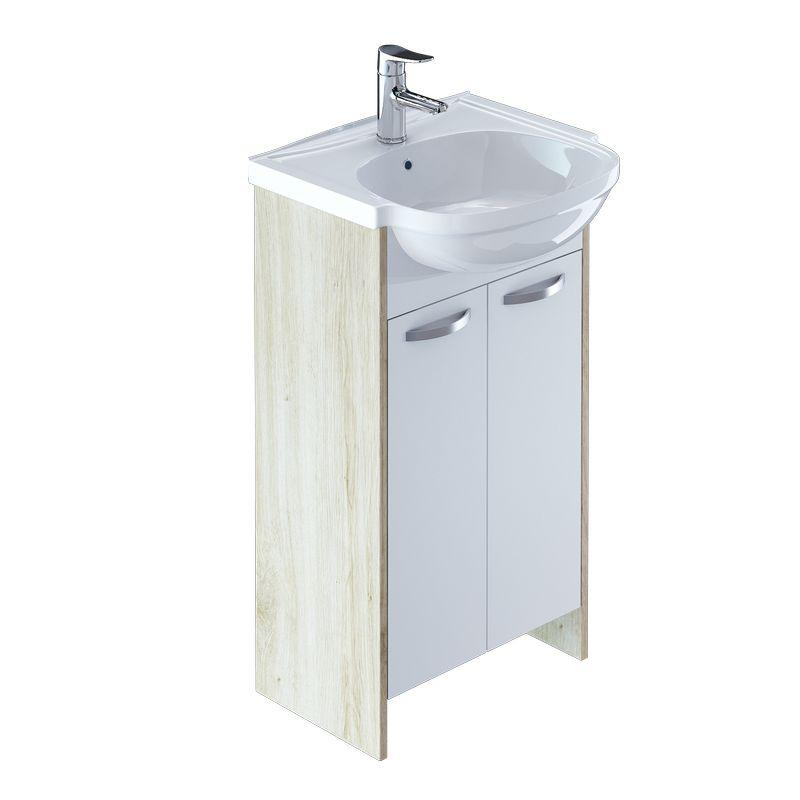 Тумба для ванной комнаты с раковиной Milardo Vol50w2m95+0015000m28