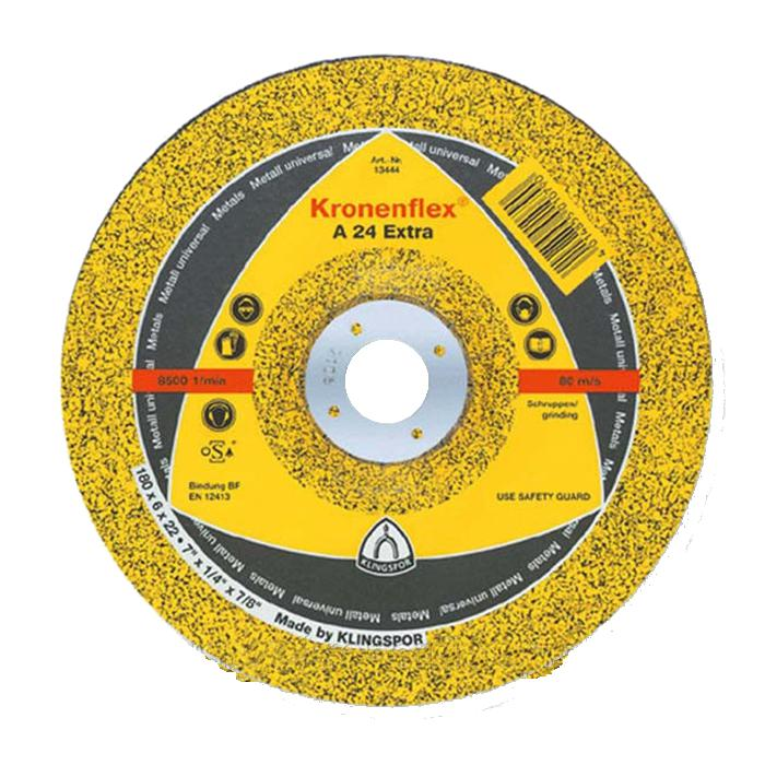Круг отрезной Klingspor Kronenflex a 24 extra 230 x 2 x 22 круг отрезной hammer flex 115 x 1 0 x 22 по металлу и нержавеющей стали 25шт