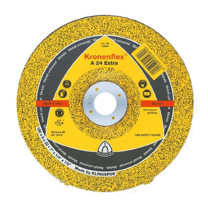 Круг отрезной Klingspor Kronenflex a 24 extra 230 x 3 x 22 круг отрезной hammer flex 115 x 1 0 x 22 по металлу и нержавеющей стали 25шт