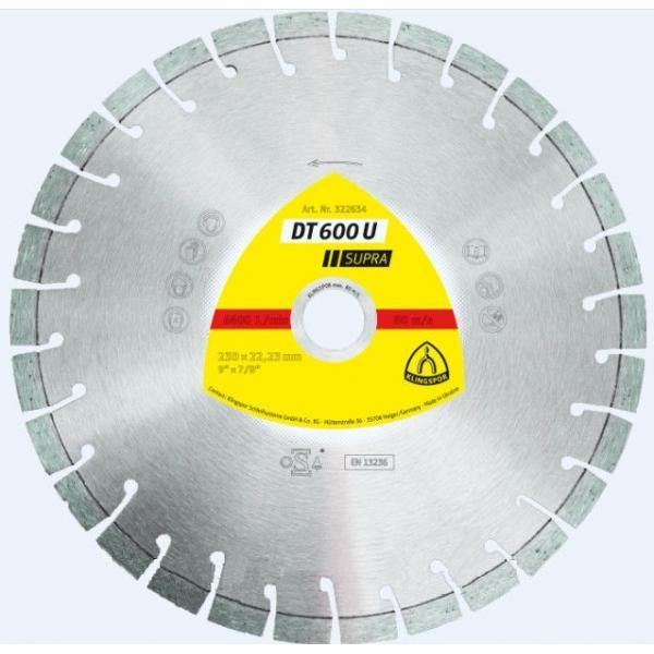 Купить Круг Алмазный Klingspor Dt 600 U Supra 230 X 2.6 X 22 Сегм.