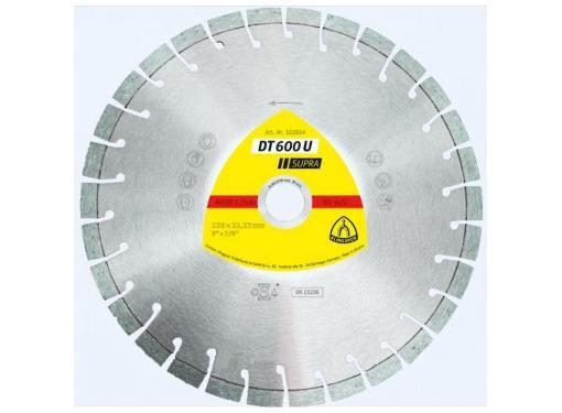 Круг алмазный KLINGSPOR DT 600 U SUPRA (322634) Ф230х22мм универсальный