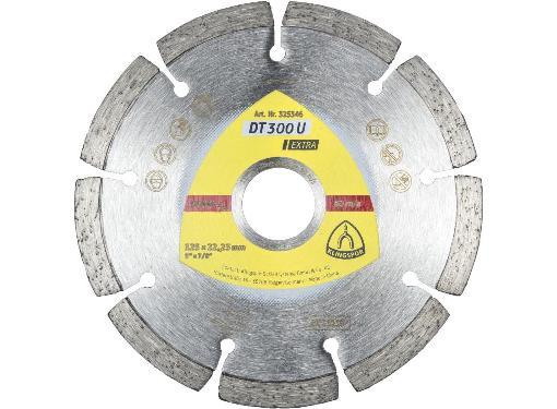 Круг алмазный KLINGSPOR DT 300 U EXTRA (325346) Ф125х22мм универсальный