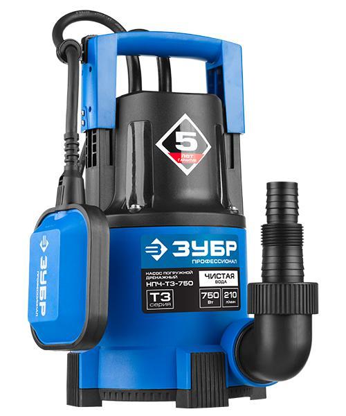 Насос ЗУБР НПЧ-Т3-750 насос погружной зубр профессионал нпч т3 750 дренажный для чистой воды