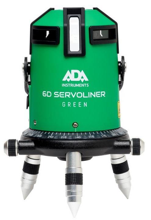 Лазерный осепостроитель Ada 6d servoliner green лазерный нивелир уровень ada 6d servoliner а00139