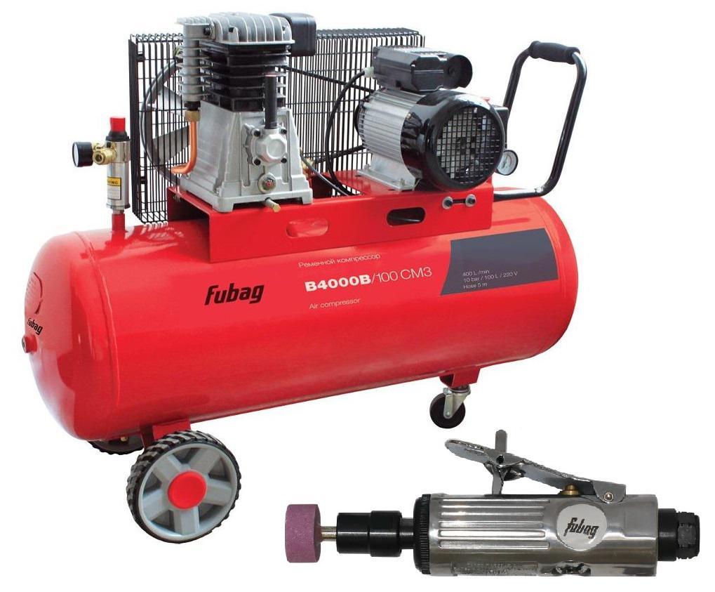 Компрессор Fubag B4000b/100 СМ3 + Шлиф. машина gl103 компрессор fubag b4000b 100 см3 45681496
