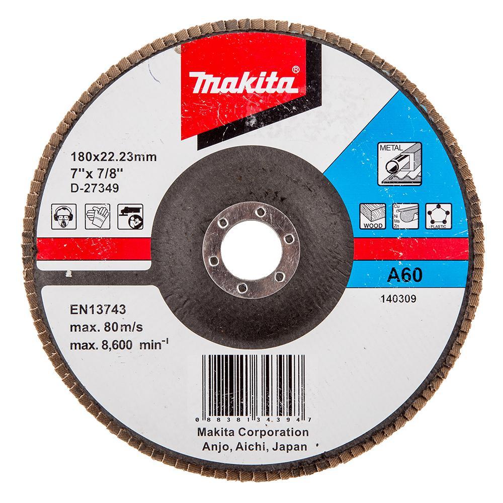 Круг Лепестковый Торцевой (КЛТ) Makita D-27349 круг лепестковый торцевой клт makita d 28117