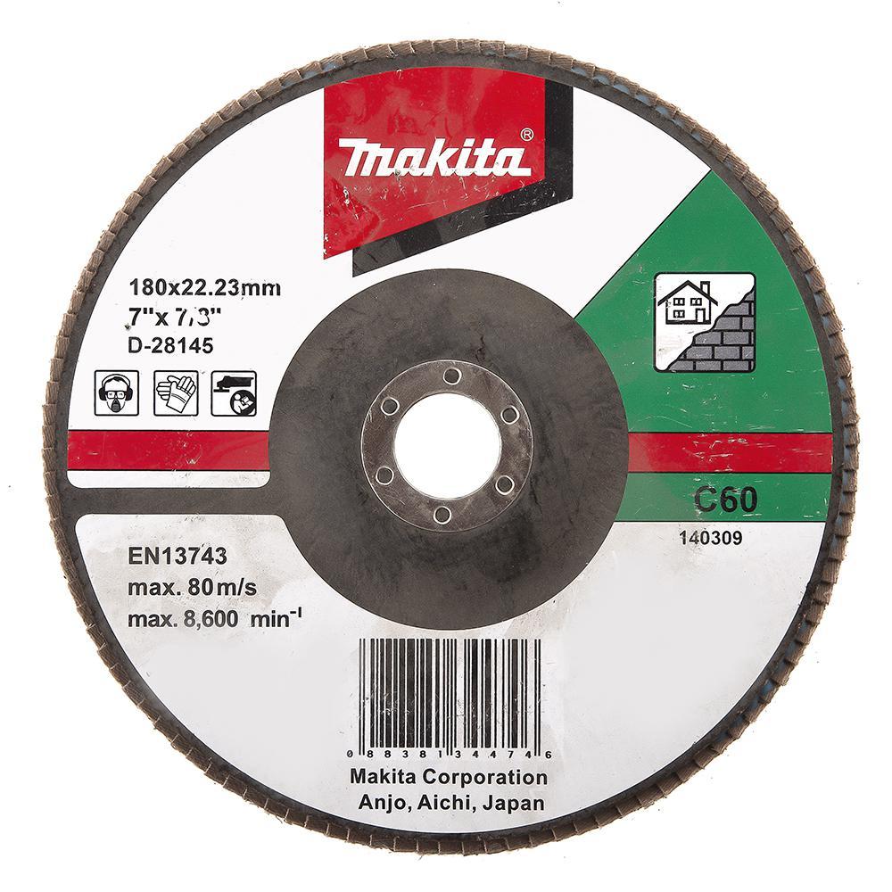 Круг Лепестковый Торцевой (КЛТ) Makita D-28145 круг лепестковый торцевой клт makita d 28117