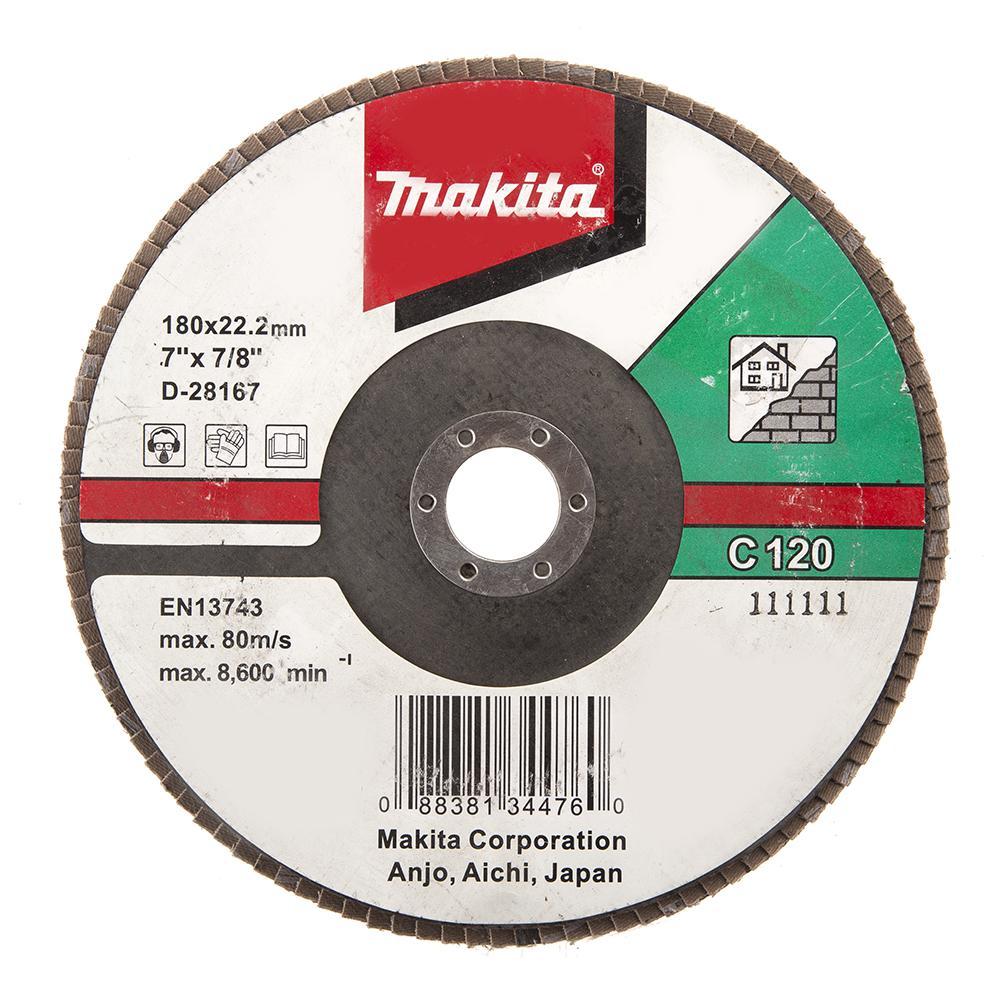 Круг Лепестковый Торцевой (КЛТ) Makita D-28167 круг лепестковый торцевой клт makita d 28117